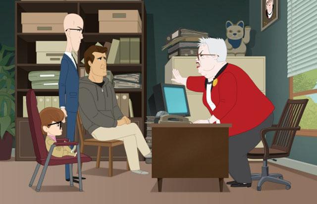 Allen Gregory with Parents Richard and Jeremy Meet Principal Gottlieb in 'Allen Gregory'