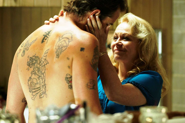 Dear Old Mom: Sullivan Stapleton as Craig Cody and Jacki Weaver as Janine 'Smurf' Cody in 'Animal Kingdom'