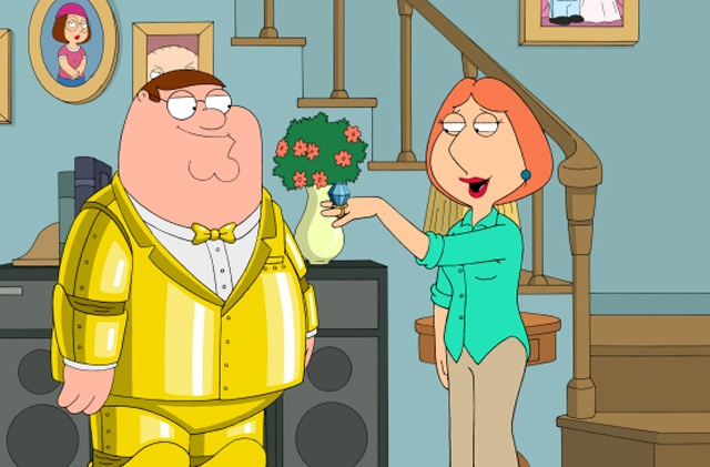 Peter Wears the Golden Tuxedo on 'Family Guy'