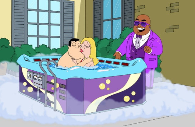 Cee Lo Green (right) Guest Stars on 'American Dad'