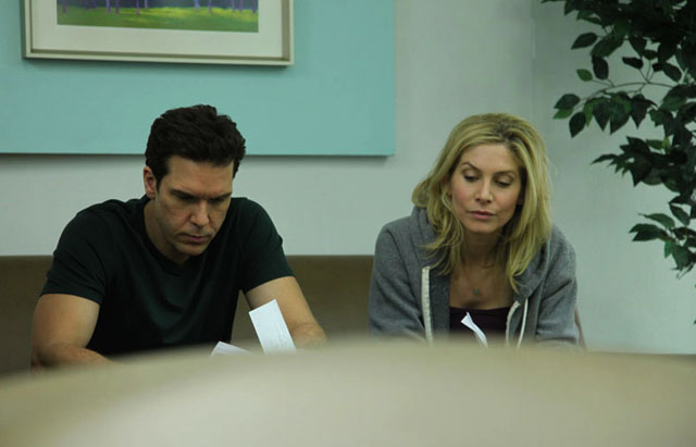 Melancholy Dane: Ryan (Dane Cook) and Kate (Elizabeth Mitchell) in 'Answers to Nothing'