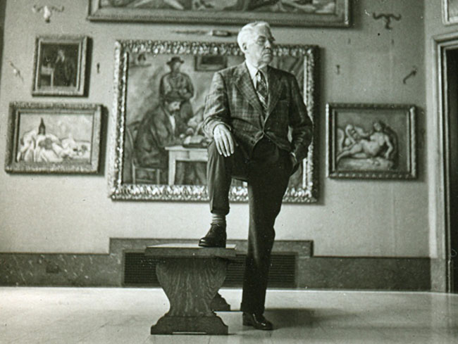 Art for Art's Sake: Albert C. Barnes poses with His Collection from 'The Art of the Steal'