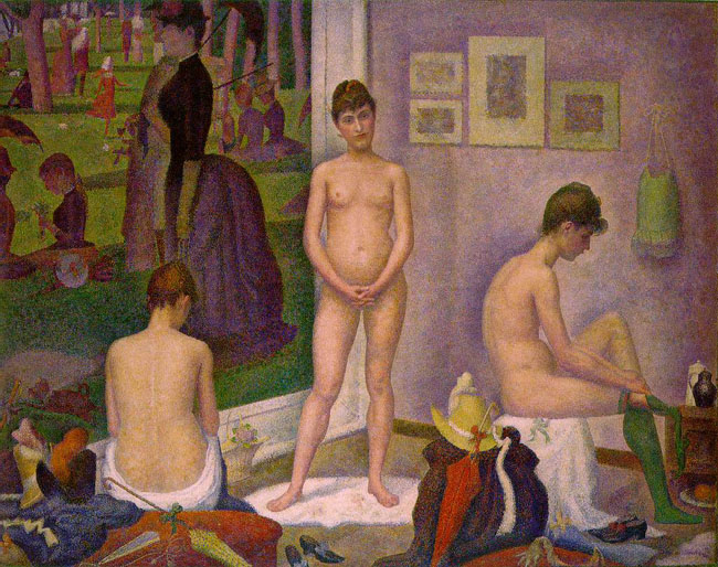 "Sunday in the Park: ""Models"" by Georges Seurat, Part of the Barnes Foundation Collection Shown in 'The Art of the Steal'"