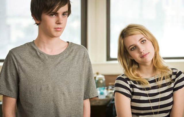 Finding Common Ground: George (Freddie Highmore), and Sally (Emma Roberts) in 'The Art of Getting By'