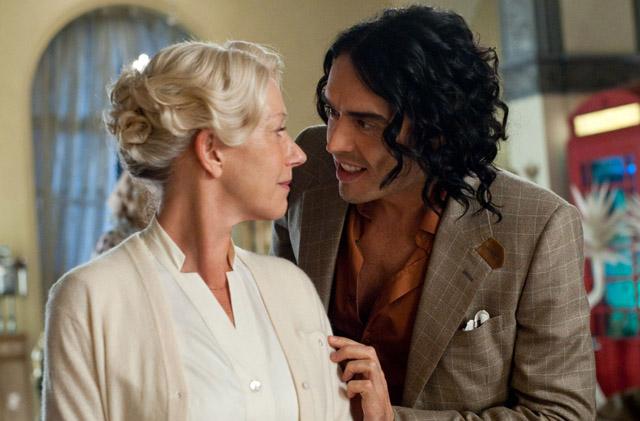 Co-Dependents: Helen Mirren (Hobson) and Russell Brand (Arthur) in 'Arthur'