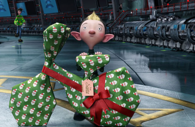 Wrap Master: Bryony (Ashley Jensen) Gets it Done in 'Arthur Christmas'