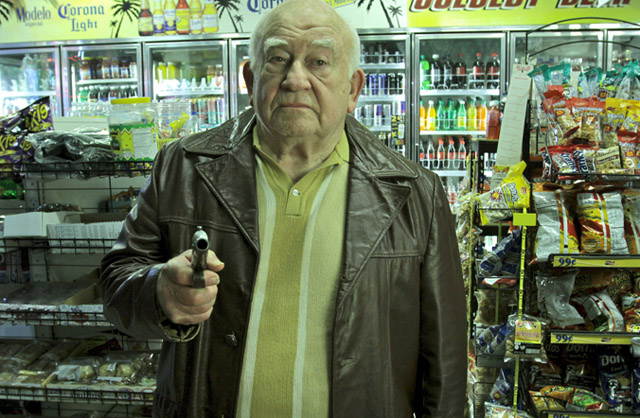 Ed Asner as Artie in 'Let Go'