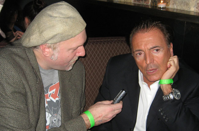 Reflections: Patrick McDonald and Armand Assante at the Best of the Midwest Awards, Chicago, December 1st, 2009.
