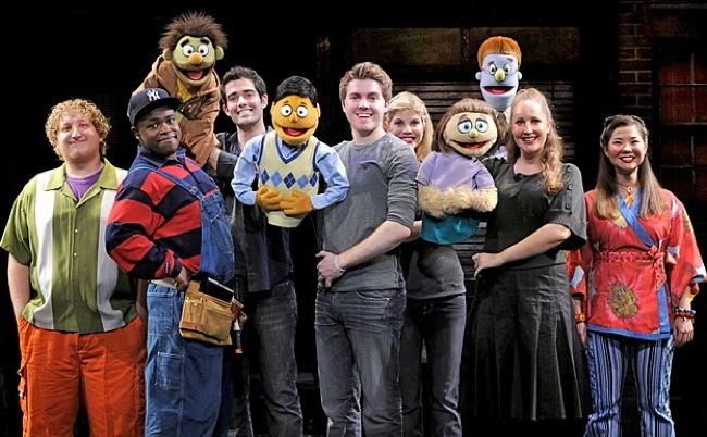 "The touring cast of ""Avenue Q"""