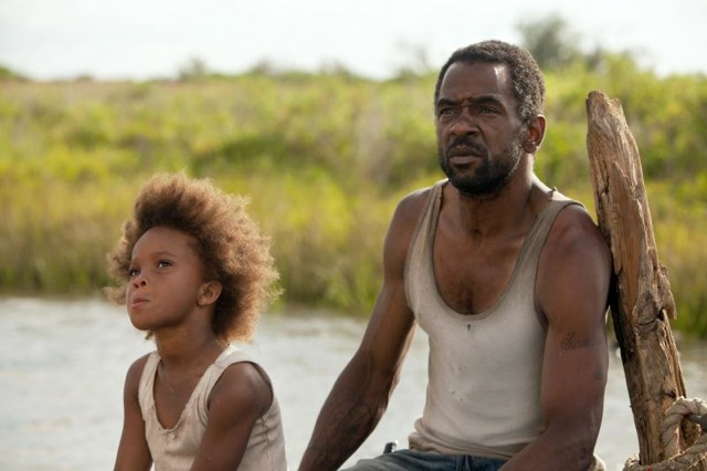 Quvenzhané Wallis and Dwight Henry star in Benh Zeitlin's Beasts of the Southern Wild.