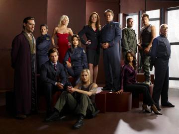 The cast of Battlestar Galactica.