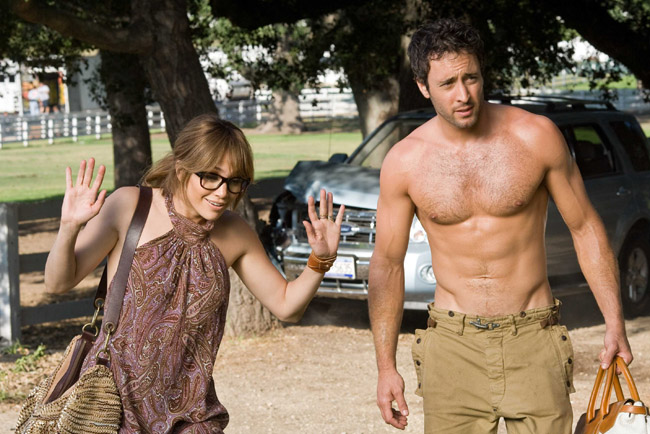 Going McConaughey: Jennifer Lopez as Zoe and Alex O'Loughlin as Stan in 'The Back-up Plan'