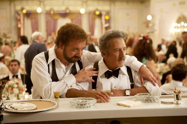 Paul Giamatti as Barney and Dustin Hoffman as Izzy in 'Barney's Version'