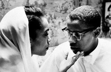 Angela Bassett as Betty Shabazz with Denzel Washington as 'Malcolm X'