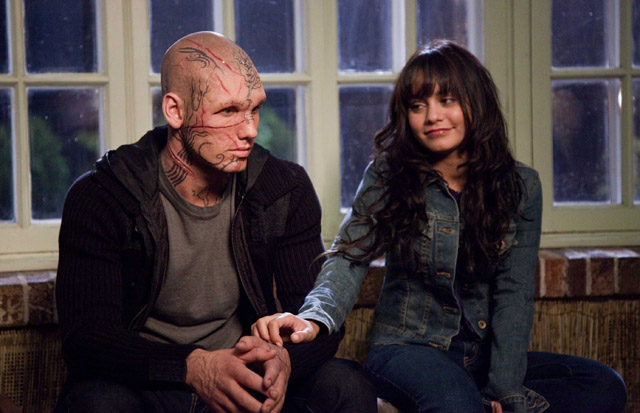 Relatable? Alex Pettyfer (Kyle the Beast) and Vanessa Hudgens (Lindy) in 'Beastly'