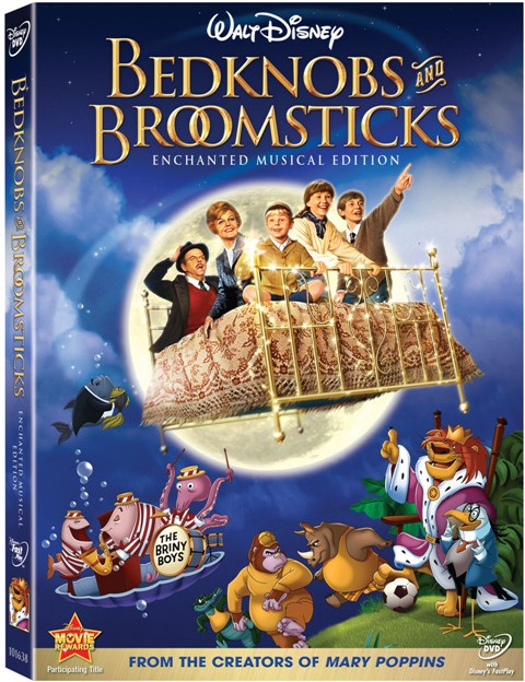 Bedknobs and Broomsticks: Enchanted Musical Edition was released on DVD on September 8th, 2009.