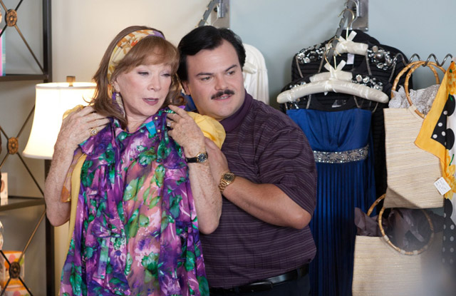 Shirley MacLaine (Marjorie) and Jack Black as the Title Character in 'Bernie'