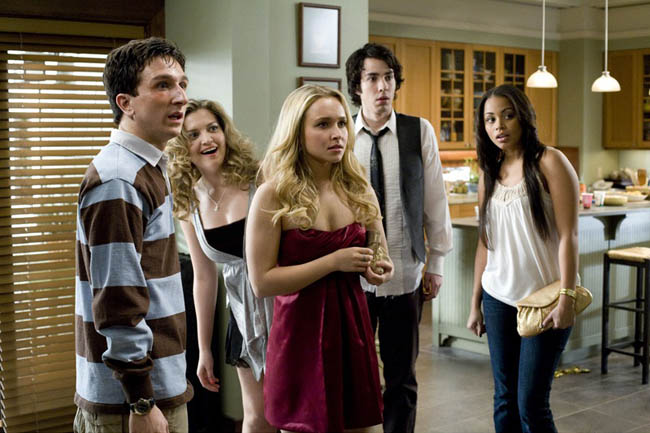 The Gang's All Here: Left to Right – Paul Rust, Lauren Storm, Hayden Panettiere, Jack Carpenter and Lauren Landon in 'I Love You, Beth Cooper'
