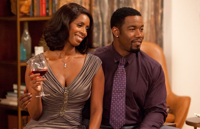 Tasha Smith and Michael Jai White in Tyler Perry's TV Series 'For Better or Worst'