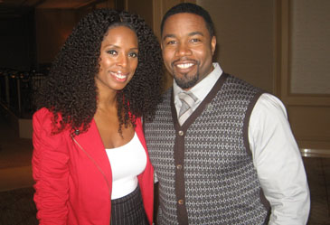 Tasha Smith and Michael Jai White in Chicago, November 14th, 2011