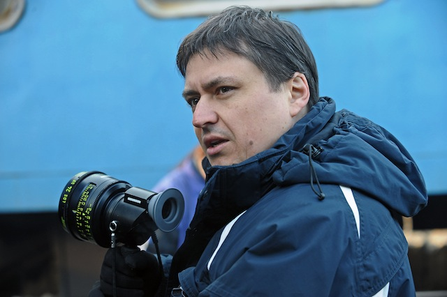 Director Cristian Mungiu on the set of his film, Beyond the Hills.