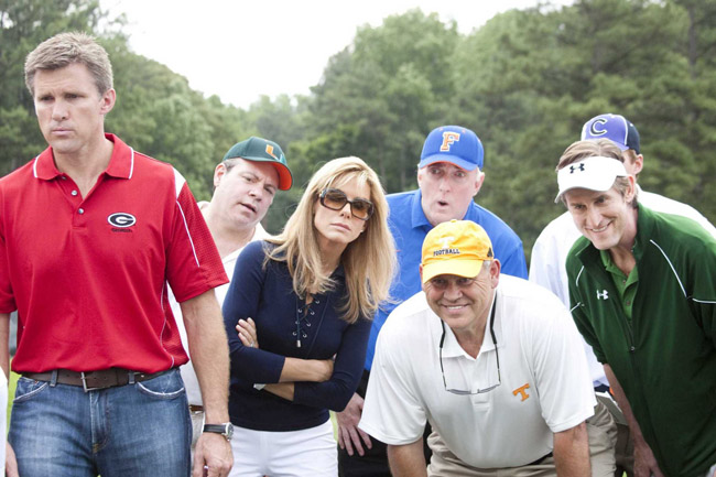 Recruiters: Sandra Bullock (center, in sunglasses) as Leigh Anne Touhy and Some College Coaches in 'The Blind Side'