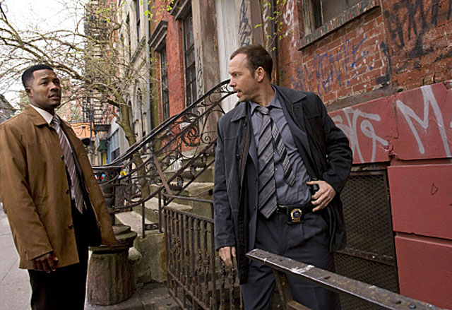 On the Case: Flex Alexander (Det. Demarcus) and Donnie Wahlberg in 'Blue Bloods'