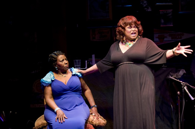 "Felicia P. Fields and Sandra Reaves-Phillips star in ""Low Down Dirty Blues"" at Northlight Theatre"" target="