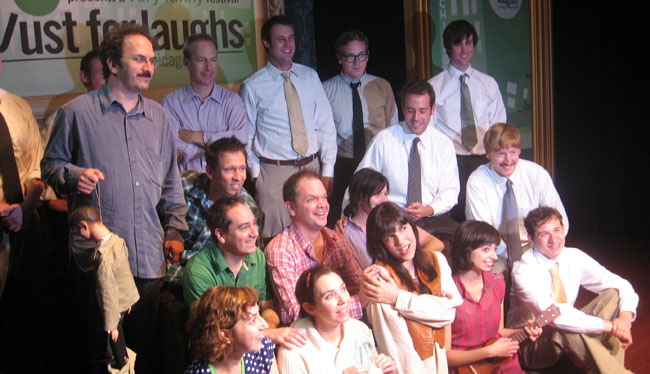 The Cast of 'The Not Inappropriate Show' with Robert Smigel (with ventriloquist doll) and Bob Odenkirk (next to Smigel), Mayne Stage, Chicago, June 18, 2010.