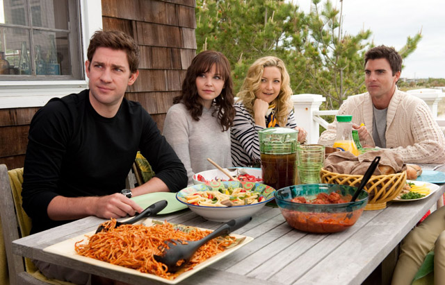 Gang's All Weird: John Krasinski (Ethan), Goodwin, Kate Hudson (Darcy) and Egglesfield in 'Something Borrowed'
