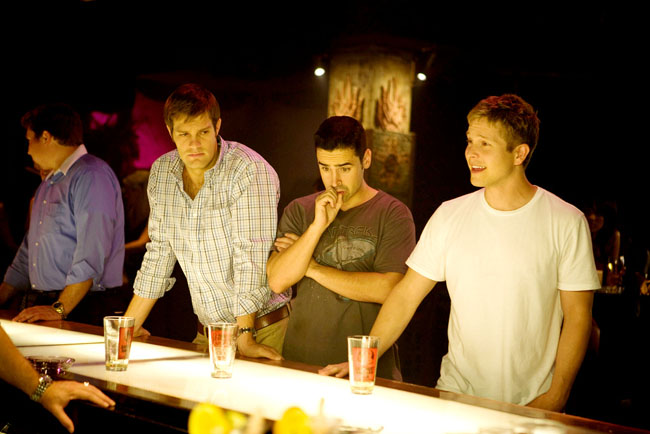 Boys of Bummer: Geoff Stults as Dan, Jesse Bradford as Drew and Matt Crzuchry as Tucker Max in 'I Hope They Serve Beer in Hell'