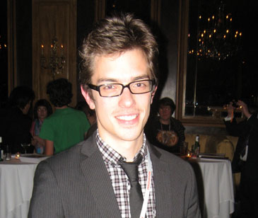 Short Film Chicago Award Winner Brad Bischoff at the Chicago International Film Festival Awards Ceremony, October 17, 2009.
