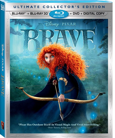 Brave was released on Blu-ray and DVD on November 13, 2012