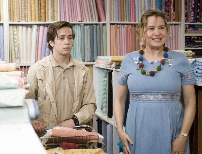 Hess' Material World: Michael Angarano as Benjamin and Jennifer Coolidge as Judith in 'Gentleman Broncos'