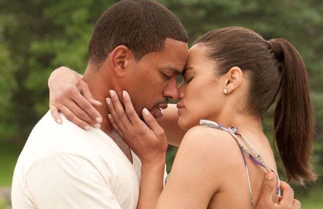 Betrothed: Laz Alonso (Jason) and Paula Patton (Sabrina) in 'Jumping the Broom'