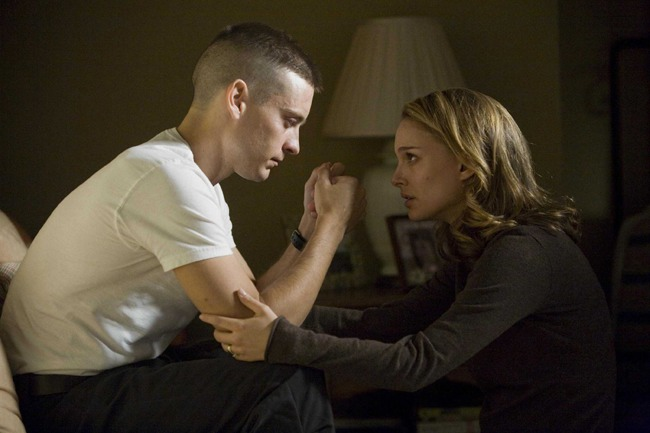 Johnny Comes Marching Home: Tobey Maguire as Sam and Natalie Portman as Grace in 'Brothers'