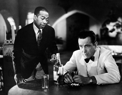 Dooley Wilson and Humphrey Bogart star in Michael Curtiz's Casablanca.