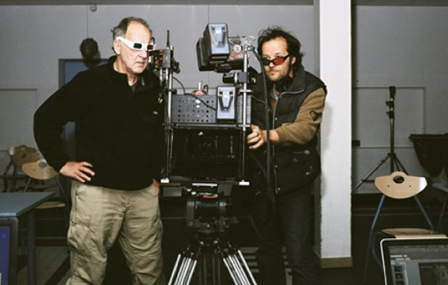 Another Dimension: Werner Herzog (left) Checks Footage in 'Cave of Forgotten Dreams'