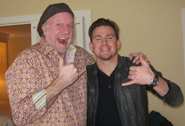 Patrick McDonald and Channing Tatum in Chicago, January 28, 2010