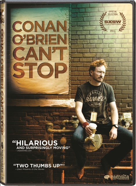 Conan O'Brien Can't Stop was released on Blu-ray and DVD on September 13th, 2011