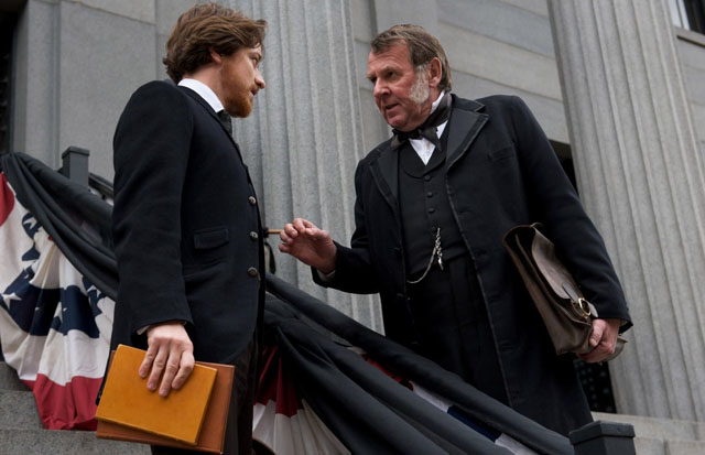 Point of Justice: James McAvoy and Tom Wilkerson (Reverdy Johnson) in 'The Conspirator'