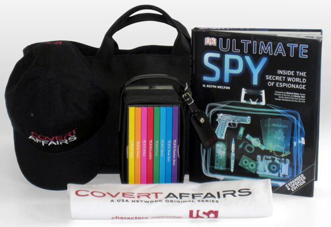 The prize pack offered by HollywoodChicago.com for USA Network's Covert Affairs with Piper Perabo