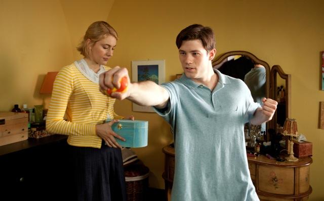 Greta Gerwig and Ryan Metcalf star in Whit Stillman's Damsels in Distress.