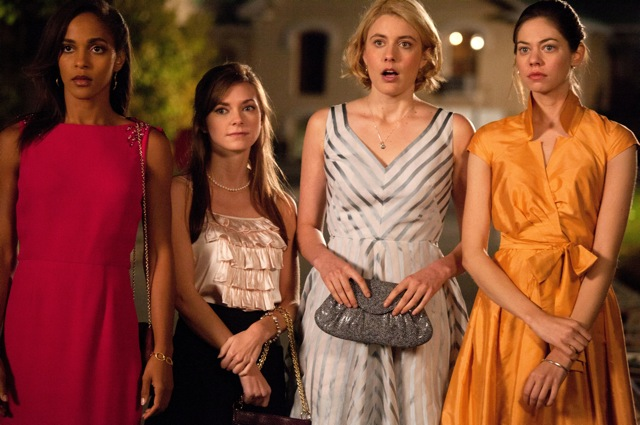 Megalyn Echikunwoke, Carrie MacLemore, Greta Gerwig and Analeigh Tipton star in Whit Stillman's Damsels in Distress.