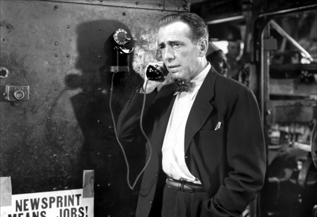 Humphrey Bogart stars in Richard Brooks's 1952 noir Deadline USA.