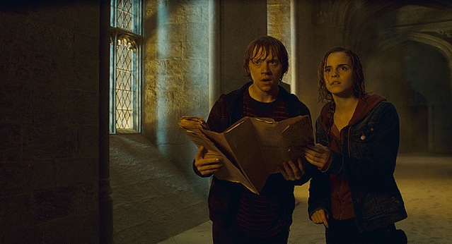 Rupert Grint and Emma Watson star in Harry Potter and the Deathly Hallows: Part 2.