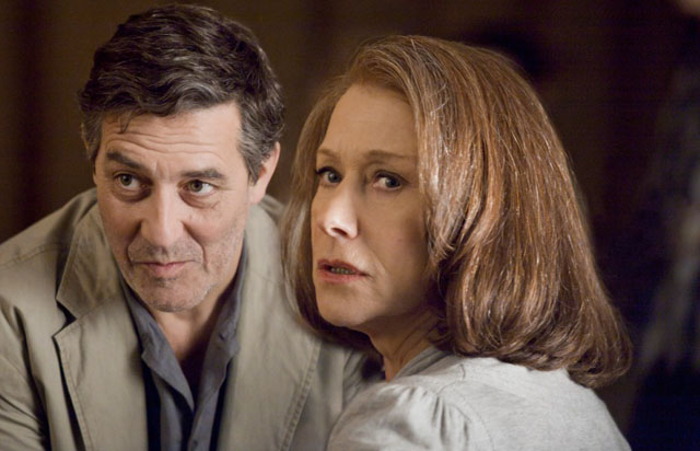 Clarán Hinds as Contemporary David and Helen Mirren as Rachel in 'The Debt'