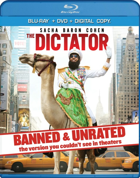 The Dictator was released on Blu-ray and DVD on August 21, 2012