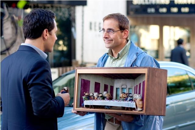 Of Mice and Men: Paul Rudd as Tim and Steve Carrell as Barry in 'Dinner for Schmucks'