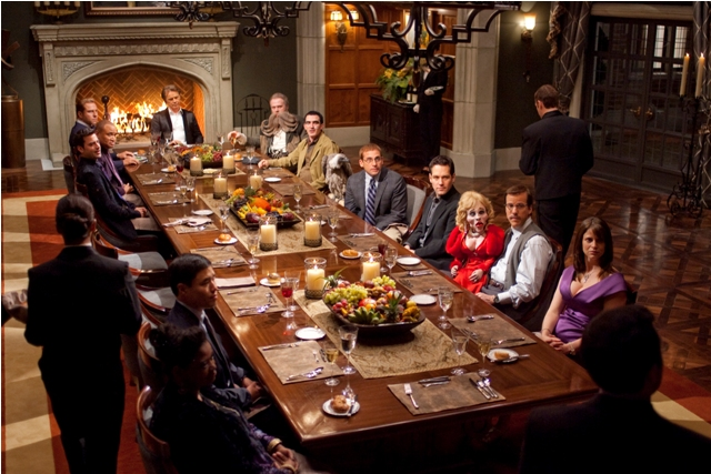 The Table is Set: The Gang Gathers for the Feasting in 'Dinner for Schmucks'